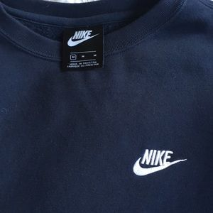 Men's navy blue medium Nike sweatshirt